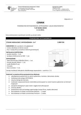 cennik - t>op biznes mixer