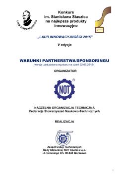 W Warunki Partnerstwa-Sponsoringu Konkursu