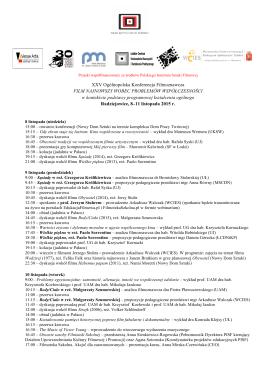 pełny program konferencji