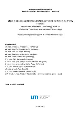 Słownik polsko-angielski mian anatomicznych dla studentów