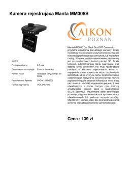 Kamera rejestrująca Manta MM308S