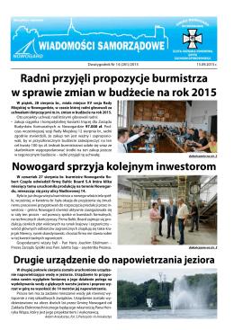 Nr 14 (281) 15.09.2015 r.