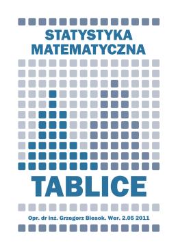 Tablice do statystyki matematycznej