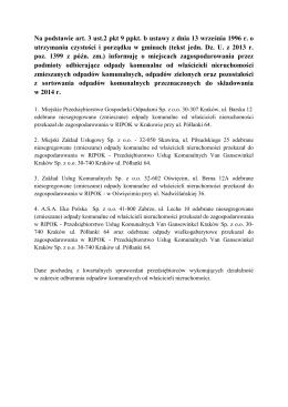 Na podstawie art. 3 ust.2 pkt 9 ppkt. b ustawy z dnia 13 września