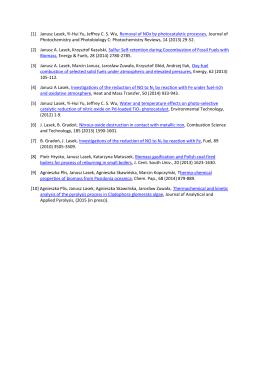 Publikacje Laboratorium Technologii Spalania i Energetyki