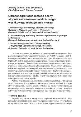 Ultrasonograficzna metoda oceny stopnia zaawansowania