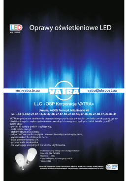 Oprawy oświetleniowe LED