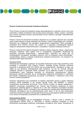 Phoenix Contact Environmental Compliance Standard (status 1