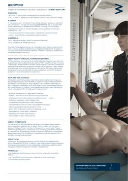 Pobierz folder  - Centrum Ruchu i Terapii BODYWORK