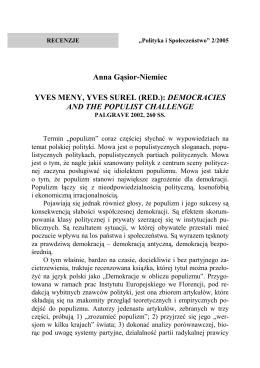 Yves Meny, Yves Surel (red.)