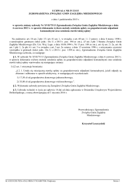 Uchwala Nr IV/33/15 z dnia 1 pazdziernika 2015 r.