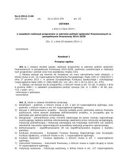 Ustawa wdrożeniowa. - Narodowe Centrum Badań i Rozwoju