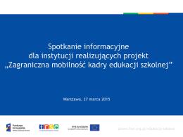 Prezentacja 1 - Program Operacyjny Wiedza Edukacja Rozwój