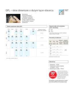 GPL – okno drewniane o dużym kącie otwarcia