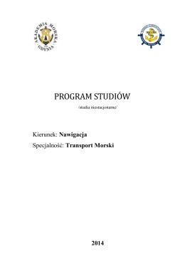 Program studiów - Wydział Nawigacyjny Akademii Morskiej w Gdyni