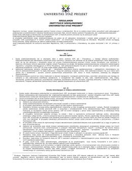 regulamin instytucji szkoleniowej universitas sta projekt1