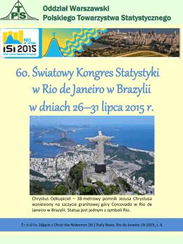 60. Światowy Kongres Statystyki w Rio de Janeiro w Brazylii w