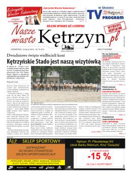 15/2015 - Nasze Miasto Kętrzyn