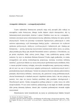 Kazimierz Piotrowski Awangarda w defensywie