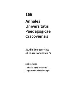 Folia 166 - Annales Universitatis Paedagogicae Cracoviensis