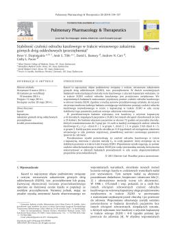 Stabilność czułości odruchu kaszlowego w trakcie wirusowego