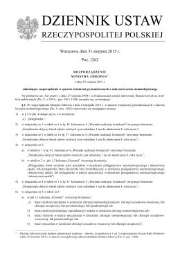 DZIENNIK USTAW - Śląska Izba Lekarska