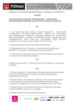 STATUT KTA - Polski Związek Koszykówki