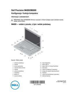 Dell Precision M4800/M6800 Konfiguracja i