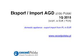 Raport - eksport AGD