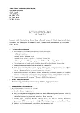 Zapytanie ofertowe - Poznańska Szkoła Chóralna Jerzego
