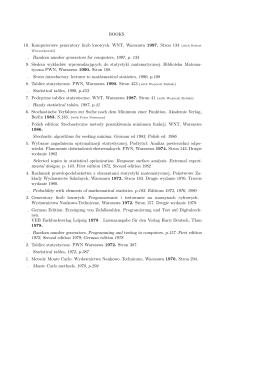 BOOKS 10. Komputerowe generatory liczb losowych. WNT