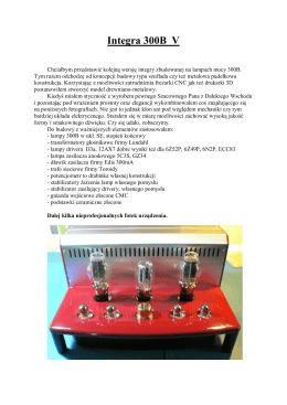 Integra 300B V - MRelektronik.pl