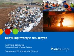 dr Kazimierz Borkowski, Fundacja Plastics Europe Polska