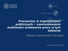 prezentacja EPAK - Aldona Frączkiewicz