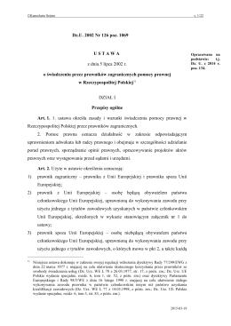 Ustawa z dnia 5 lipca 2002 r. o świadczeniu przez prawników