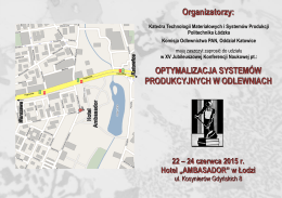 pobierz zaproszenie - Katedra Technologii Materiałowych i
