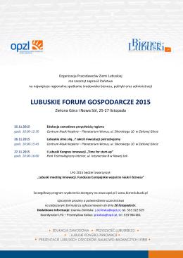 Zaproszenie LFG 2015 - Organizacja Pracodawców Ziemi Lubuskiej