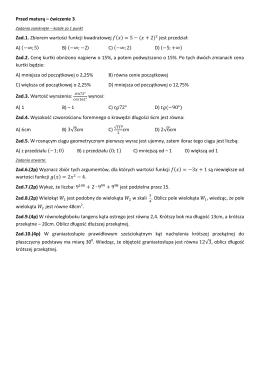 Przed maturą – ćwiczenie 3 Zad.1. Zbiorem wartości funkcji