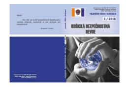 číslo 1/2015 - Vysoká škola bezpečnostného manažérstva v Košiciach