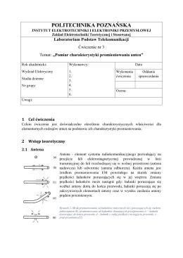 Pomiar charakterystyk promieniowania anten