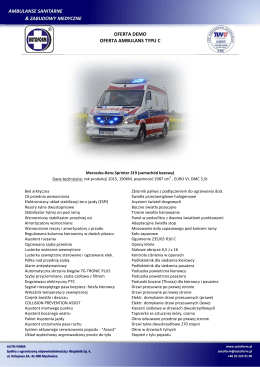demo MB 319 - AUTO-FORM Ambulanse sanitarne