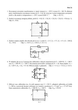 lista 2a 1. Rezystancja uzwojenia transformatora w stanie zimnym
