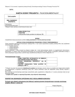 karta oceny dokument