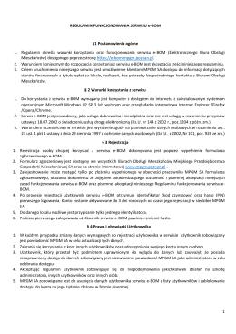 Regulamin usługi e-BOM