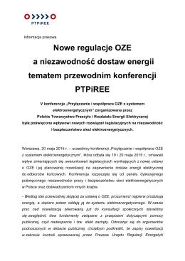 Nowe regulacje OZE a niezawodność dostaw energii_2015.05.20