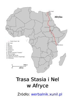 Trasa Stasia i Nel w Afryce Trasa Stasia i Nel w Afryce