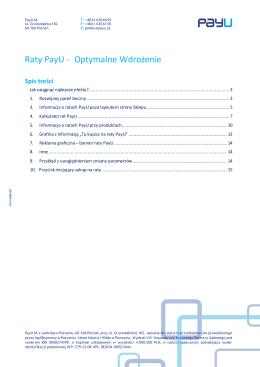 Raty PayU - Optymalne Wdrożenie