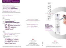 Ulotka dla pacjenta TEOXANE ® Kosmeceutyki
