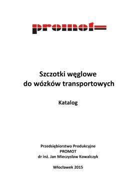 Szczotki węglowe do wózków transportowych