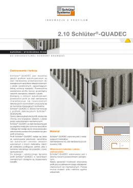 Schlüter-QUADEC jest wysokiej jakości profilem wykończeniowym